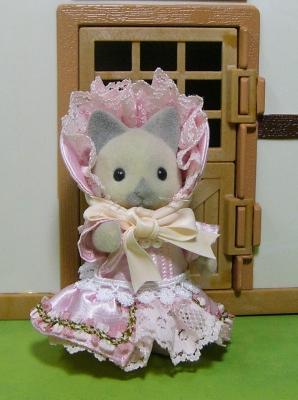 ピンクドレス 母
