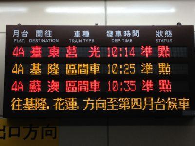 台湾国鉄TRA台北基隆間