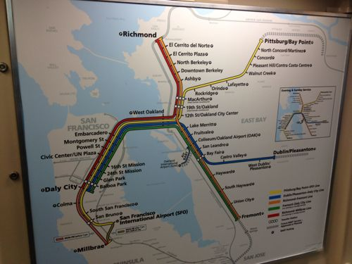 BART路線図