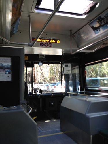 フリーシャトルバス前方
