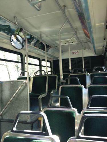 フリーシャトルバス後方