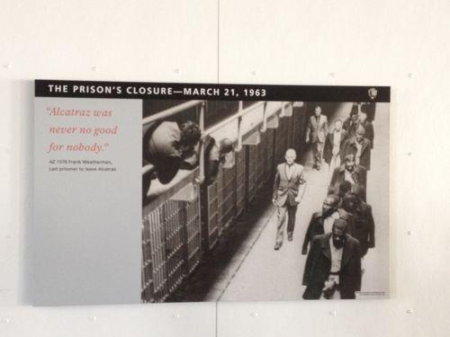 アルカトラズ刑務所、閉鎖の日