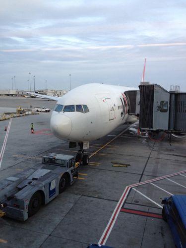 JALの羽田空港行き機材