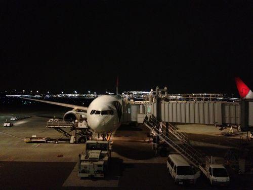 夜の羽田空港
