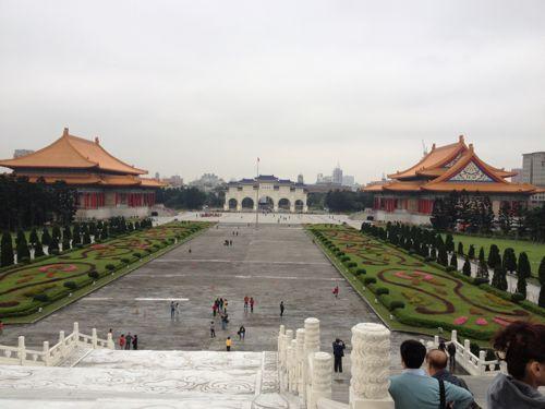 中正記念堂の上から見た風景