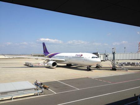 タイ国際航空が見えました。