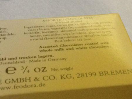 チョコレート再び