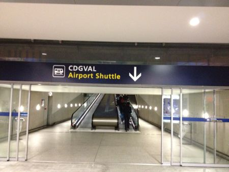 エアポートシャトル乗り場