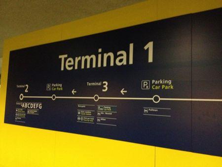 始発駅のターミナル2へ行きます