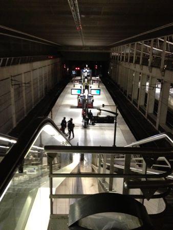 上から見たRERの駅