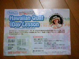Hawahan Quilt 1Day Lesson