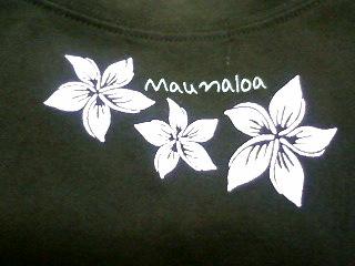 マウナロアTシャツ裏側アップ