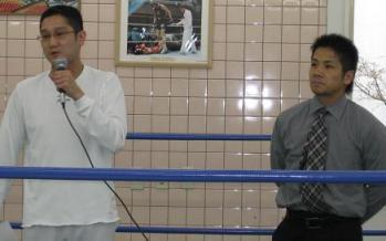 代表コーチ野宮正城氏(左)と須佐勝明選手(右)♪