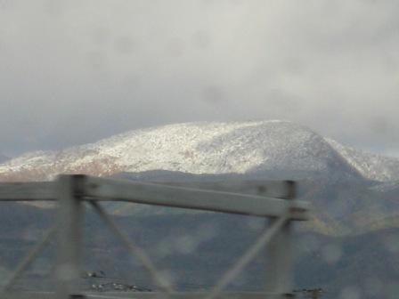 昨夜降った初雪
