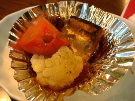 ハバネロ秋刀魚と野菜のオーブン焼