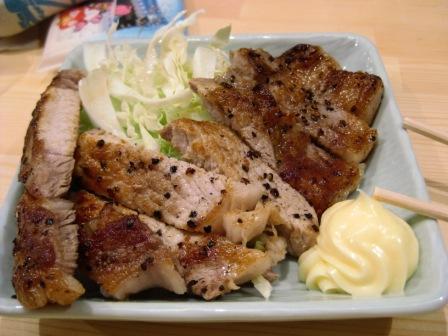 裸の大将の豚ステーキ