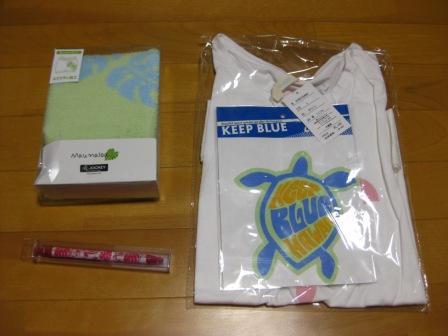 Tシャツ・ホットパンツ・ボールペン