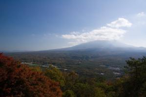 紅葉台展望台から富士山