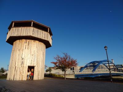 汐入タワーと水神大橋