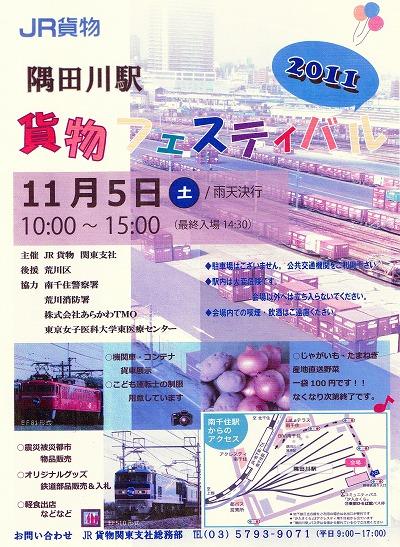 隅田川駅「貨物フェスティバル