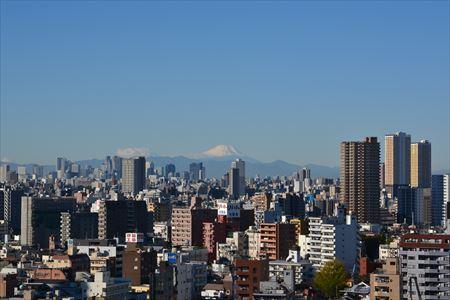 南千住から見た富士山