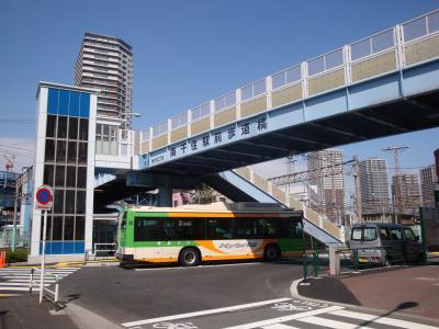 南千住駅前歩道橋エレベーターついに完成!