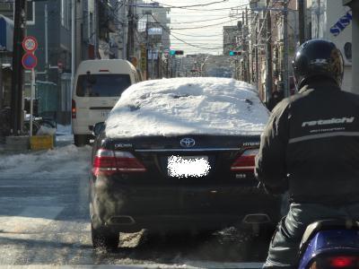1月24日の積雪 こんな車も・・・