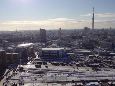 1月24日 東京初の積雪!南千住からスカイツリー