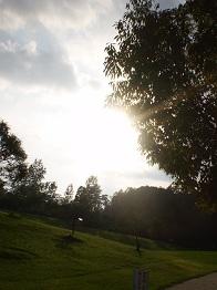 夏の終わりの夕日8