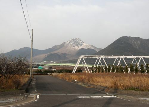 普賢岳の雪かぶり。