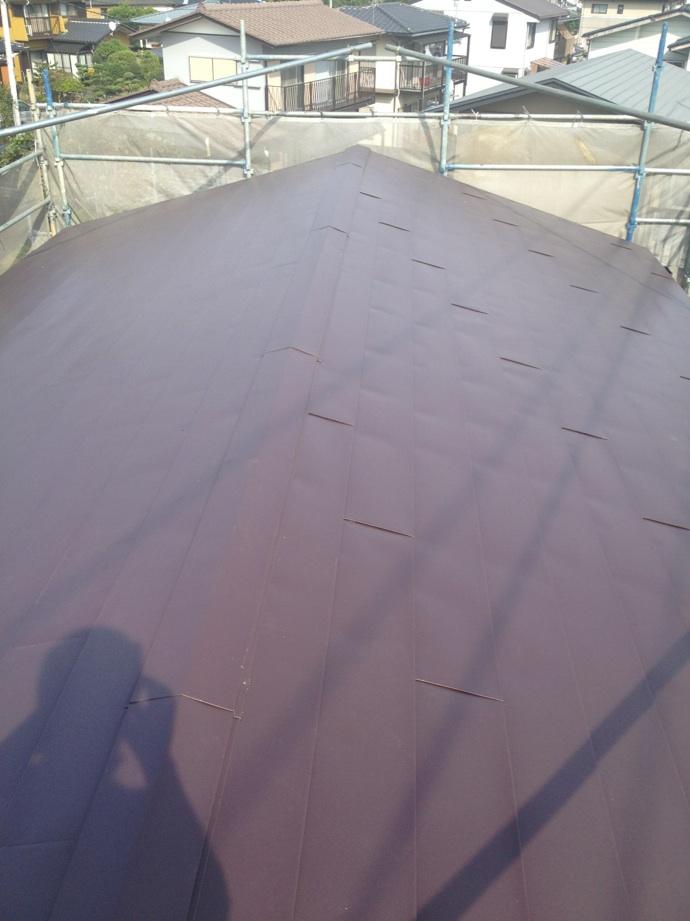 ガルバリウム鋼板屋根上張り工事