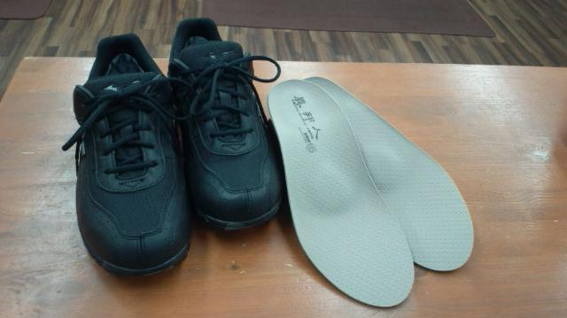 靴と中敷き