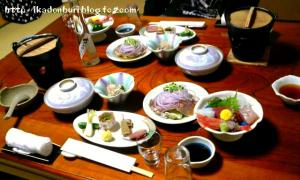 湯の山温泉:三峯園 夕食