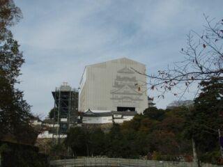 20111129工事中姫路城