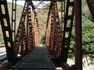 20121206廃線跡ハイク鉄橋