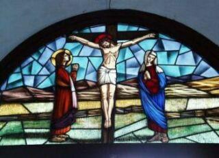 キリスト十字架ステンド