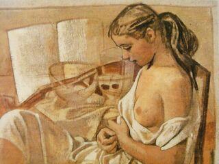 小磯良平横向きの裸婦