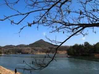 20120204有馬富士公園凍る池