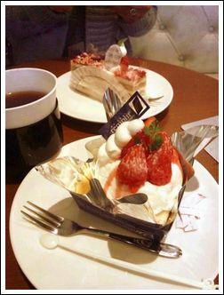 みのりんとケーキ