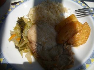ポルトドウロ川クルーズ昼食2
