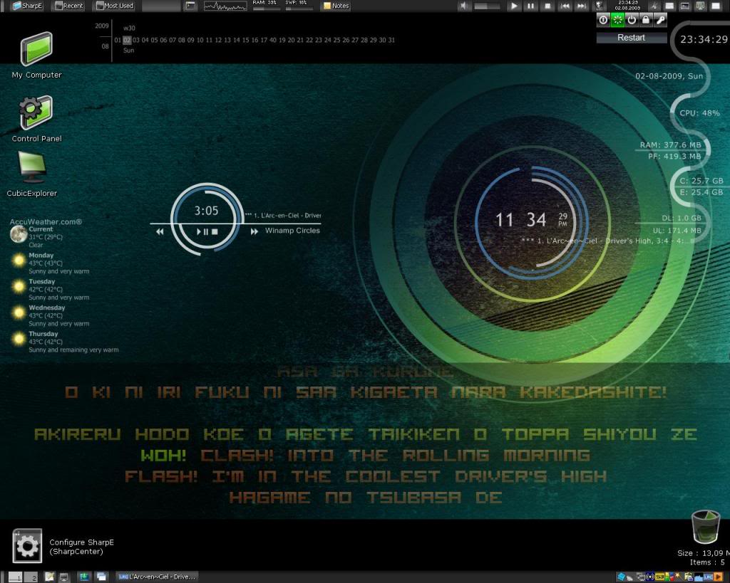 6 デスクトップのカスタマイズ Rainmeter 主観的に便利かつかっこいいと思うフリーソフト6選 Naver まとめ