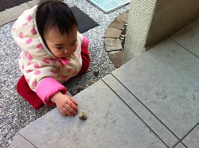 石を乗せる