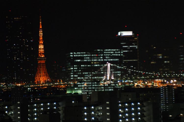 東京タワーとレインボーブリッジが・・・