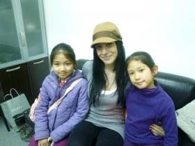with ballet teacher