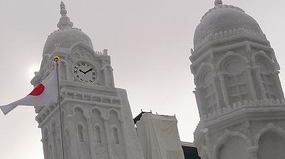 雪の時計塔