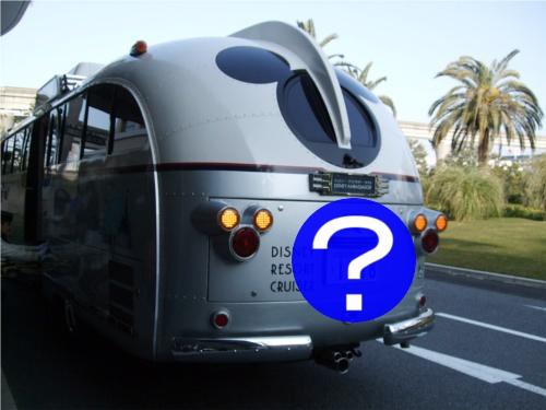 ディズニーリゾートを走るミッキーバスのナンバープレートがミッキー