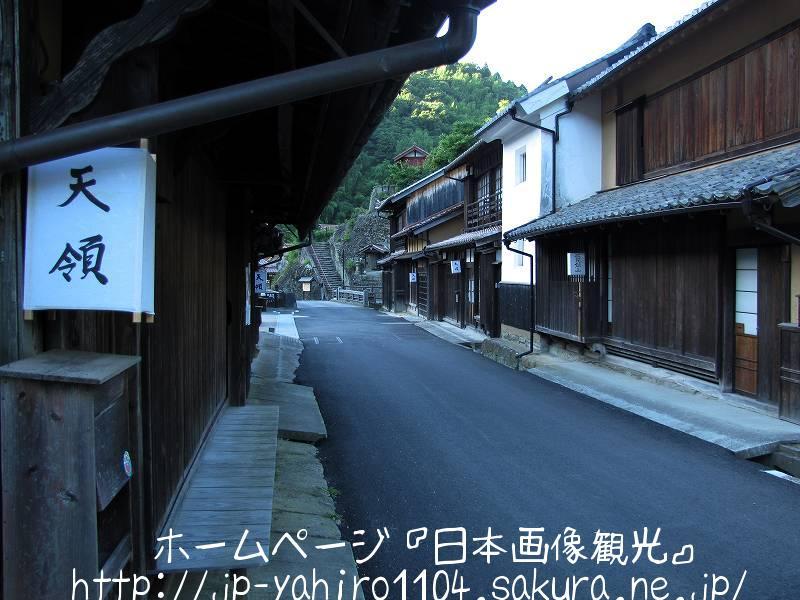 夕暮れの大森銀山伝統的建物群保存地区3