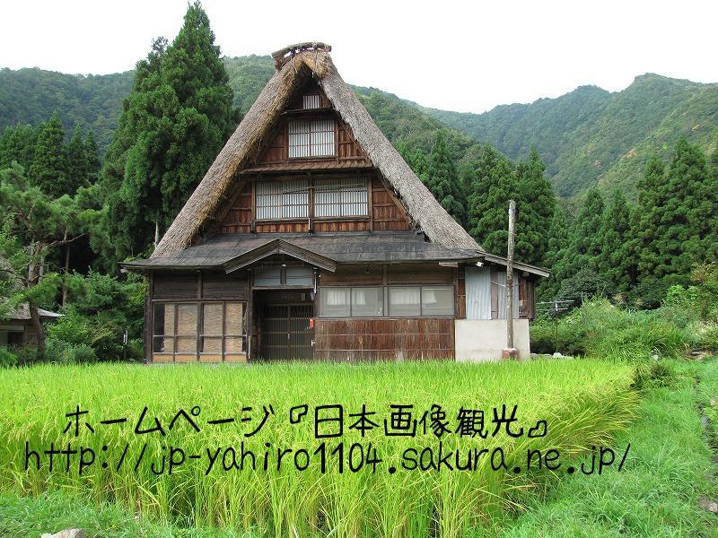 富山・世界遺産、五箇山 菅沼集落の合掌造り3