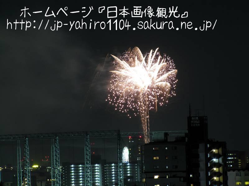 東京・自宅から見た花火(なんの花火大会か不明)1