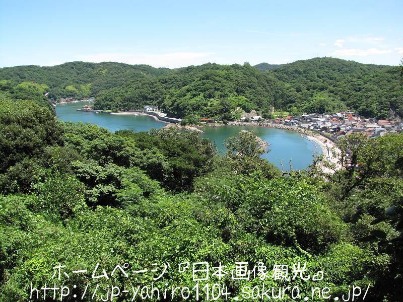 島根・港を見下ろす浜田城跡4